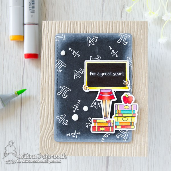 For A Great Year #handmade card by Tatiana Trafimovich #tatianacraftandart - Classy Teachers stamp set by Newton's Nook Designs #newtonsnook