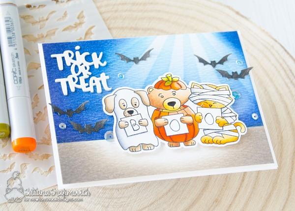 Trick Or Treat #handmade card by Tatiana Trafimovich #tatianacraftandart - Halloween Trio stamp set by Newton's Nook Designs #newtonsnook