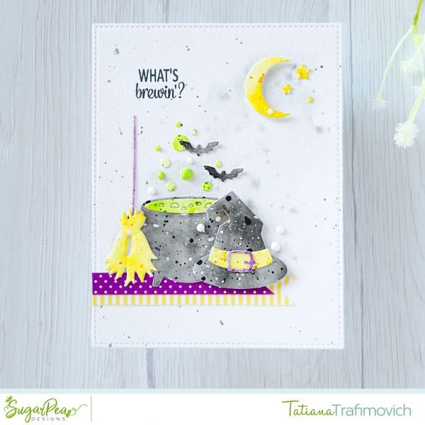 What's Brewin'? #handmade card by Tatiana Trafimovich #tatianacraftandart - Hocus Pocus stamp set by SugarPea Designs #sugarpeadesigns