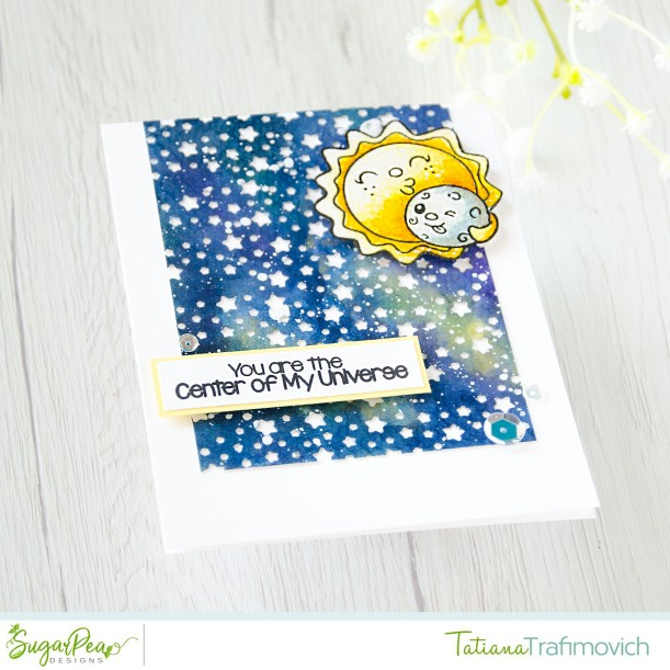 You are the Center of My Universe #handmade card by Tatiana Trafimovich #tatianacraftandart - To The Moon & Back stamp set by SugarPea Designs #sugarpeadesigns