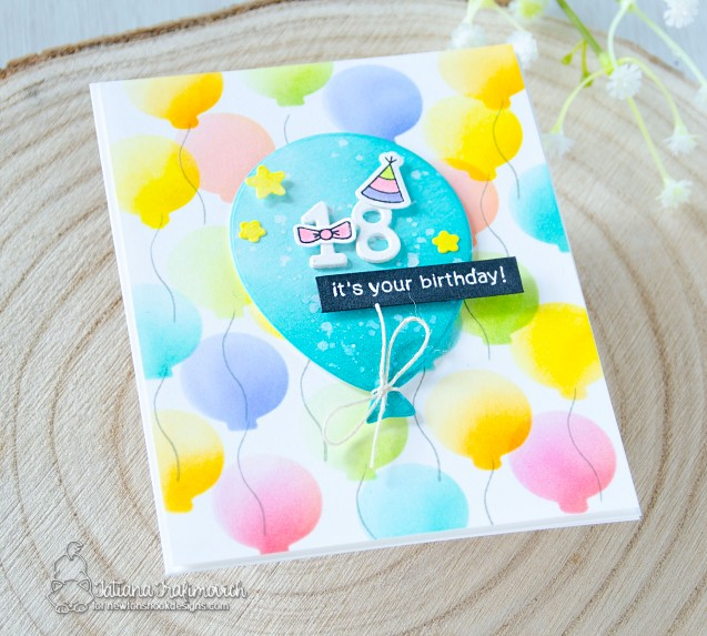 It's Your Birthday #handmade card by Tatiana Trafimovich #tatianacraftandart - stamp and die sets by Newton's Nook Designs #newtonsnook