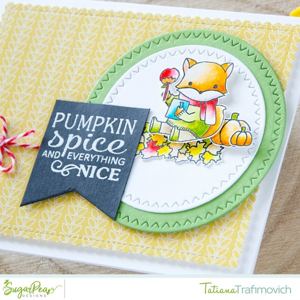 Pumpkin Spice And Everything Nice #handmade card by Tatiana Trafimovich #tatianacraftandart - Fall Fox stamp set by SugarPea Designs #sugarpeadesigns