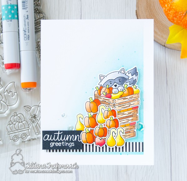 Autumn Greetings #handmade card by Tatiana Trafimovich #tatianacraftandart - Harvest Tails stamp set by Newton's Nook Designs #newtonsnook