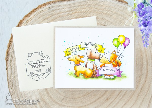 Happy Birthday #handmade card by Tatiana Trafimovich #tatianacraftandart - Hello Beautiful stamp set by Newton's Nook Designs #newtonsnook for #STAMPtember