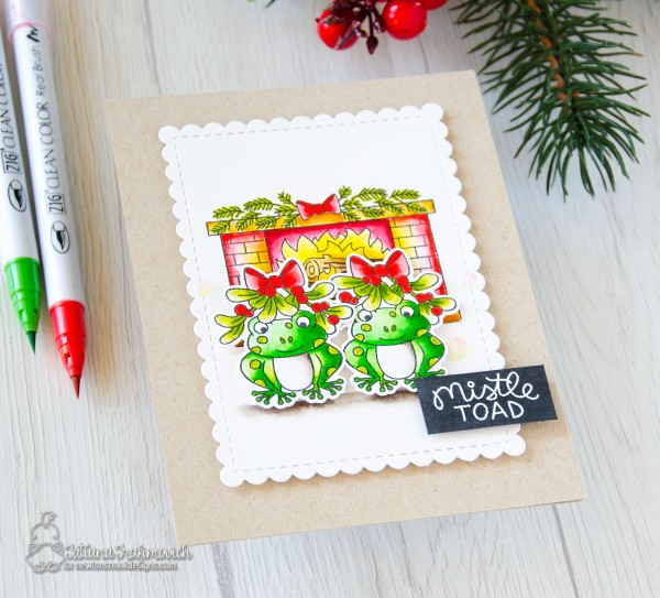 Mistle Toad #handmade card by Tatiana Trafimovich #tatianacraftandart - Mistle Toad stamp set by Newton's Nook Designs #newtonsnook