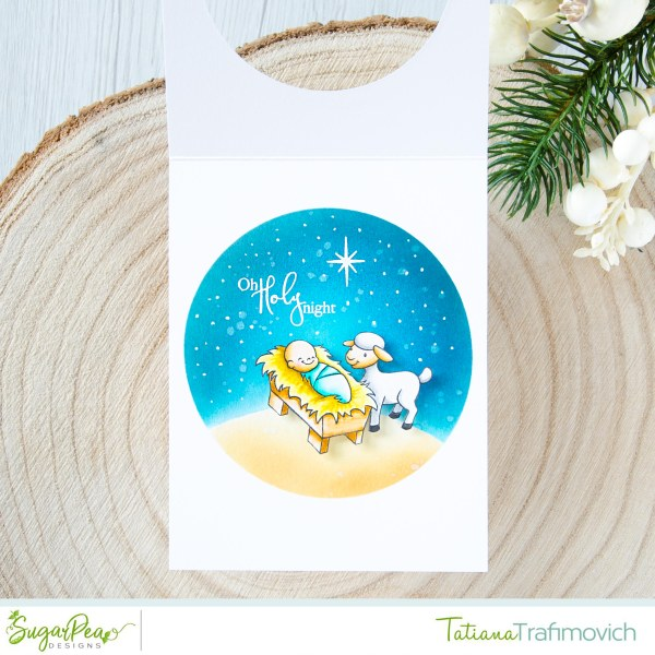 Nativity Scene #handmade card by Tatiana Trafimovich #tatianacraftandart - Come Let Us Adore Him stamp set by SugarPea Designs #sugarpeadesigns