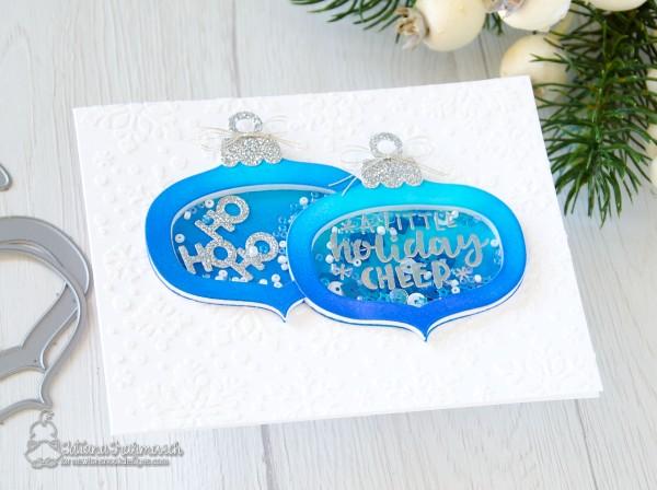 A Little Holiday Cheer #handmade card by Tatiana Trafimovich #tatianacraftandart - Ornamental Wishes stamp set by Newton's Nook Designs #newtonsnook