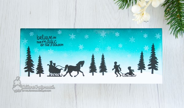 Believe In The Magic Of The Season #handmade card by Tatiana Trafimovich #tatianacraftandart - Winter Memories stamp set by Newton's Nook Designs #newtonsnook