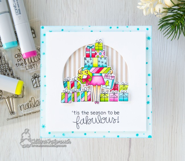 'tis The Season To Be Fabulous #handmade card by Tatiana Trafimovich #tatianacraftandart - Christmas Haul stamp set by Newton's Nook Designs #newtonsnook