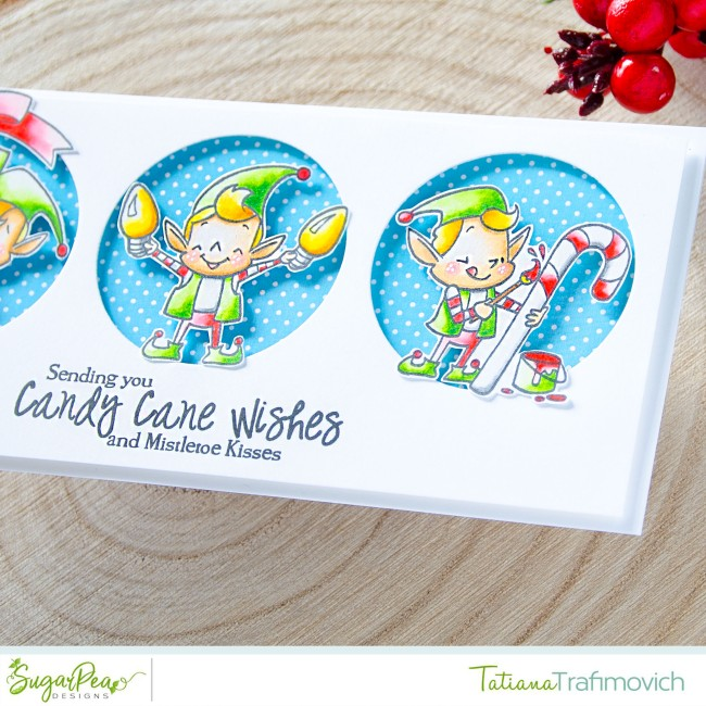 Sending You Candy Cane Wishes #handmade card by Tatiana Trafimovich #tatianacraftandart - Merry Makers stamp set by SugarPea Designs