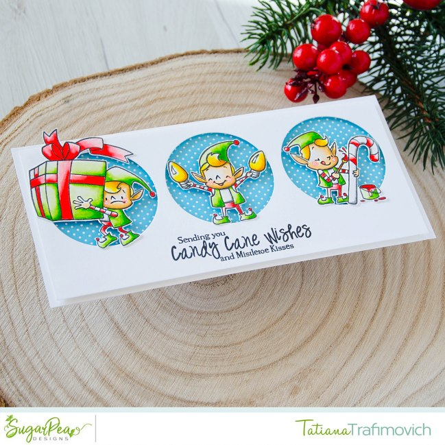 Sending You Candy Cane Wishes #handmade card by Tatiana Trafimovich #tatianacraftandart - Merry Makers stamp set by SugarPea Designs