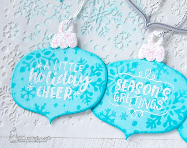 Christmas Tags #handmade by Tatiana Trafimovich #tatianacraftandart - Ornamental Shaker Die by Newton's Nook Designs #newtonsnook