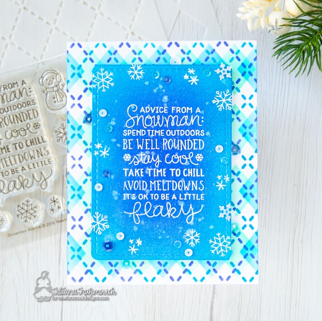 Snowman Advice #handmade card by Tatiana Trafimovich #tatianacraftandart - Snowman Advice stamp set by Newton's Nook Designs #newtonsnook
