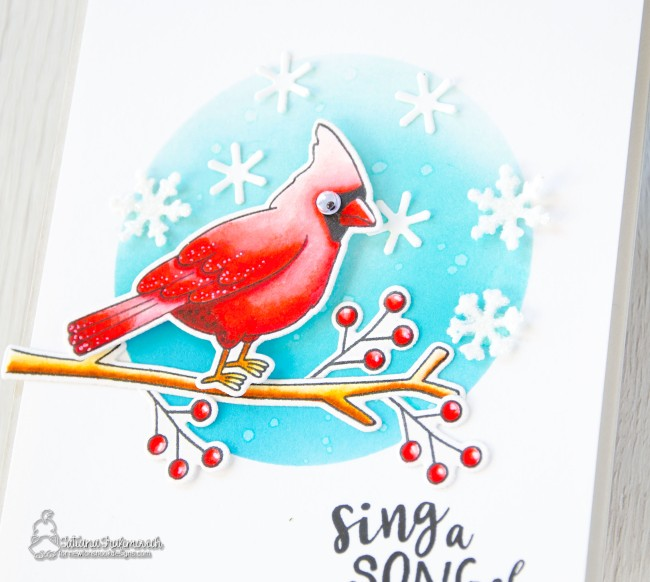 Sing A Song Of Snowflakes #handmade card by Tatiana Trafimovich #tatianacraftandart - Poinsettia Blooms stamp set by Newton's Nook Designs #newtonsnook