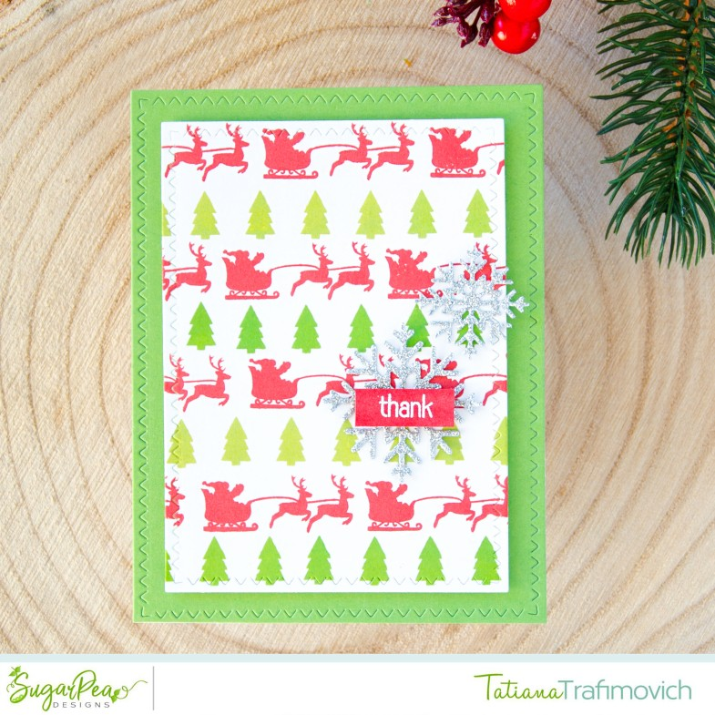 Thank #handmade card by Tatiana Trafimovich #tatianacraftandart - Christmas Tags Greetings stamp set by SugarPea Designs #sugarpeadesigns