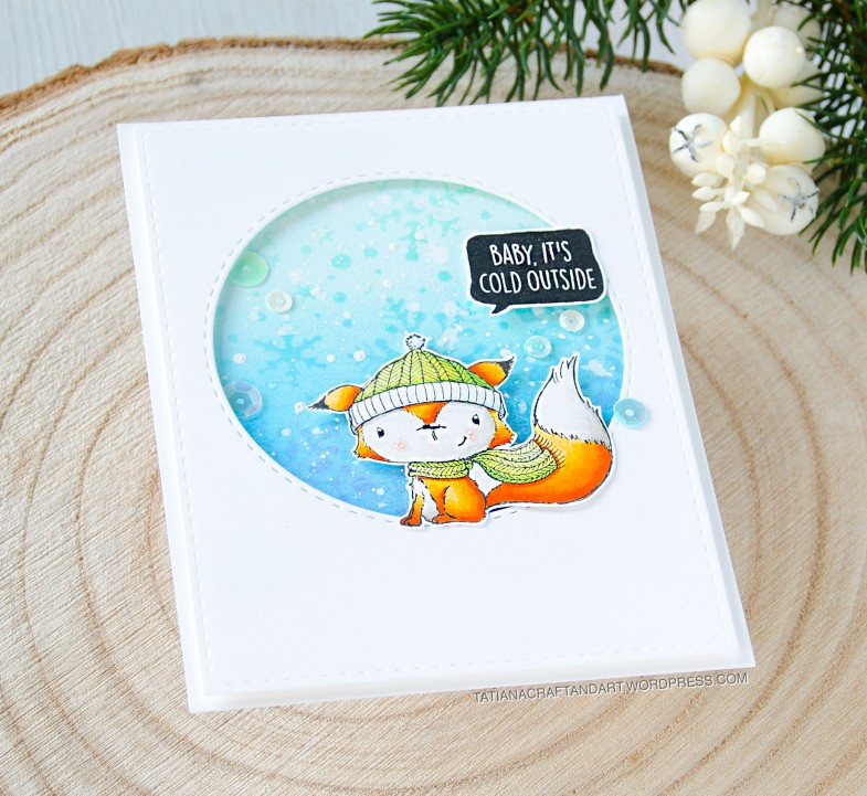 Baby It's Cold Outside #handmade card by Tatiana Trafimovich #tatianacraftandart - stamps by Purple Onion Designs
