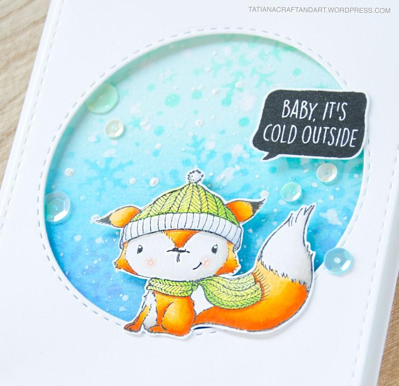Baby It's Cold Outside #handmade card by Tatiana Trafimovich #tatianacraftandart - stamps by Purple Onion Designs