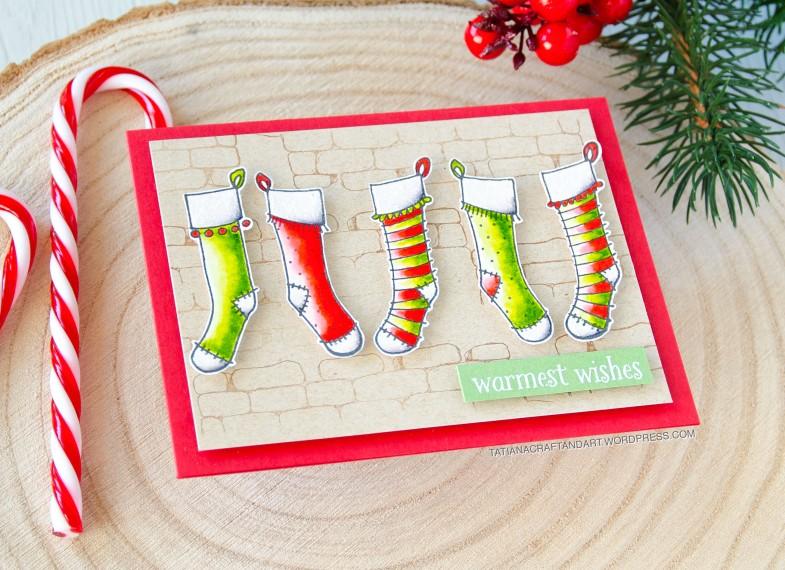 Warmest Wishes #handmade card by Tatiana Trafimovich #tatianacraftandart - stamps by Purple Onion Designs