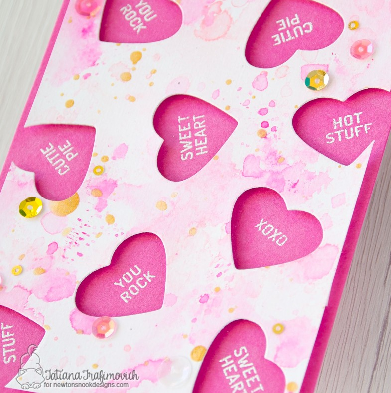 Candy Heart #handmade card by Tatiana Trafimovich #tatianacraftandart - Candy Heart stamp set by Newton's Nook Designs #newtonsnook