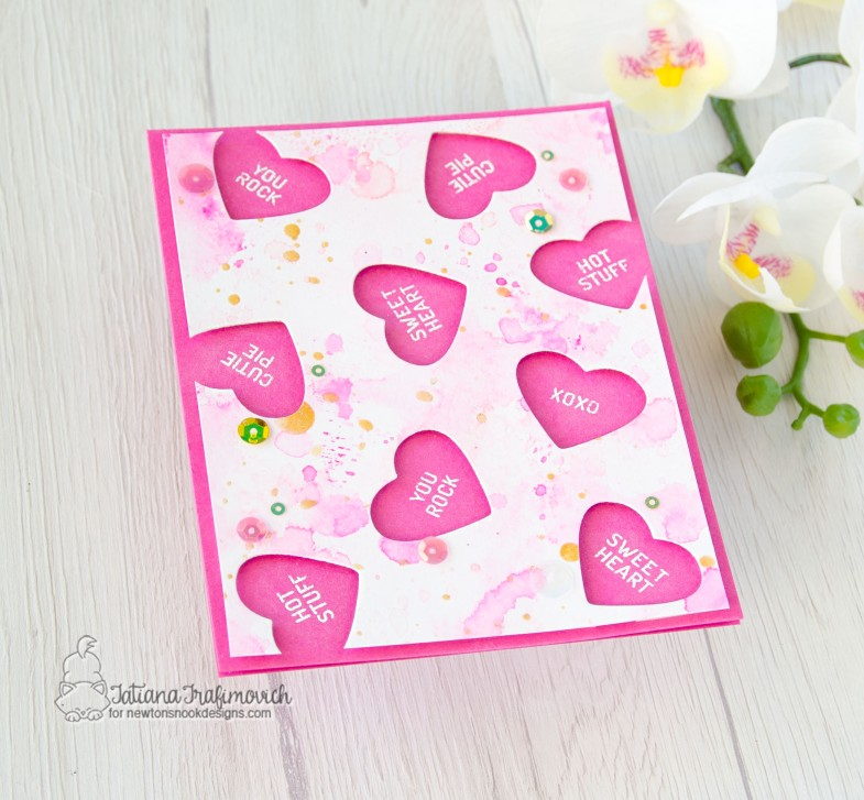 Candy Heart #handmade card by Tatiana Trafimovich #tatianacraftandart - Candy Heart stamp set by Newton's Nook Designs #newtonsnook