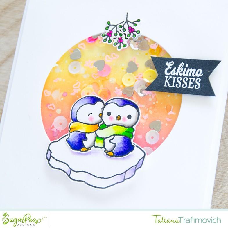 Eskimo Kisses #handmade card by Tatiana Trafimovich #tatianacraftandart - Eskimo Kisses stamp set by SugarPea Designs #sugarpeadesigns