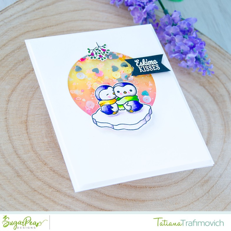 Eskimo Kisses #handmade card by Tatiana Trafimovich #tatianacraftandart - Eskimo Kisses stamp set by SugarPea Designs #sugarpeadesigns