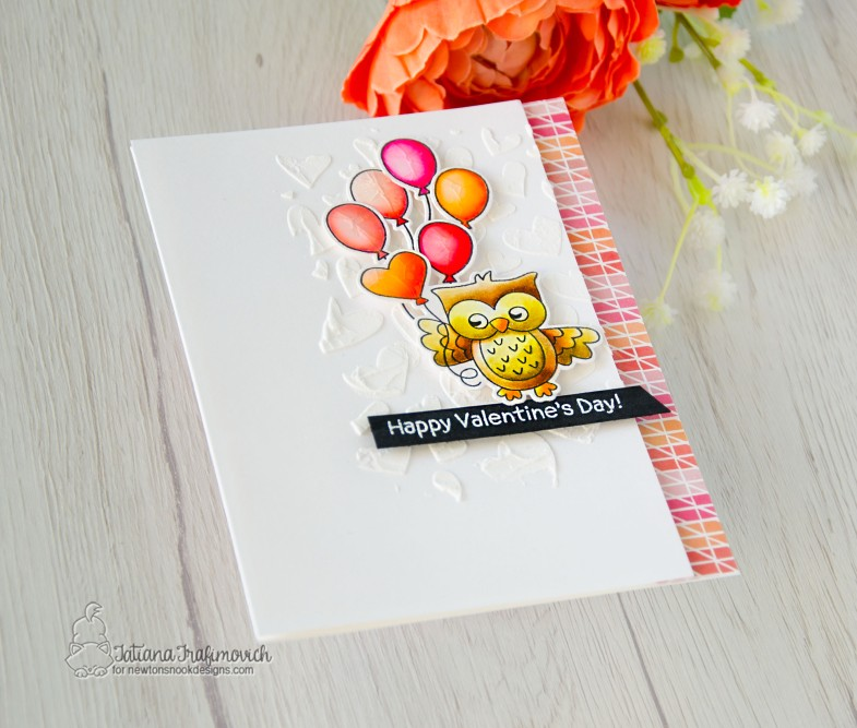 Happy Valentine's Day #handmade card by Tatiana Trafimovich #tatianacraftandart - Love Owl-ways stamp set by Newton's Nook Designs #newtonsnook
