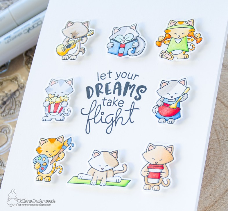 Let Your Dreams Take Flight #handmade card by Tatiana Trafimovich #tatianacraftandart - Newton Makes Plans stamp set by Newton's Nook Designs #newtonsnook