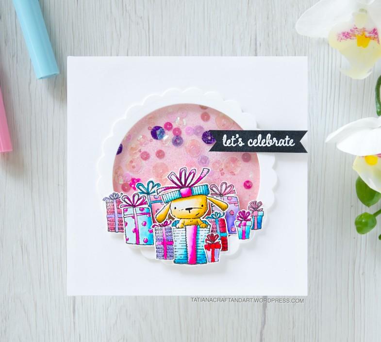 Let's Celebrate #handmade card by Tatiana Trafimovich #tatianacraftandart - stamps by Purple Onion Designs #purpleoniondesigns