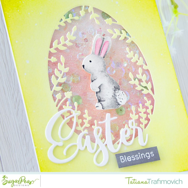 Easter Blessings #handmade card by Tatiana Trafimovich #tatianacraftandart - Easter Wishes stamp set by SugarPea Designs #sugarpeadesigns