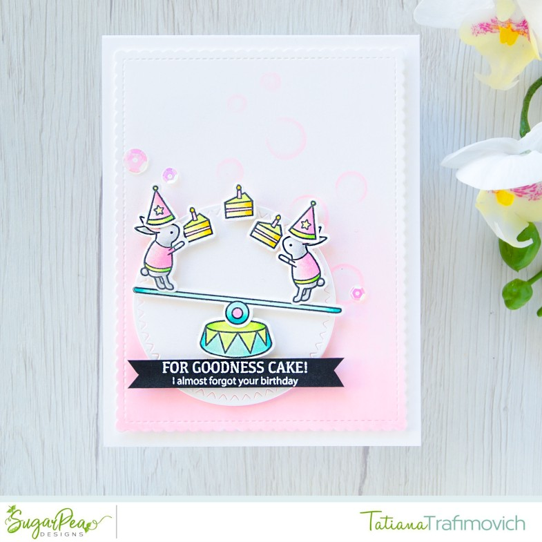 For Goodness Cake #handmade card by Tatiana Trafimovich #tatianacraftandart - Elephant Parade stamp set by SugarPea Designs #sugarpeadesigns