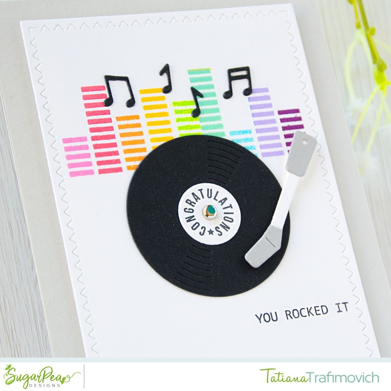 You Rocked It #handmade card by Tatiana Trafimovich #tatianacraftandart - Greatest Hits stamp set by SugarPea Designs #sugarpeadesigns