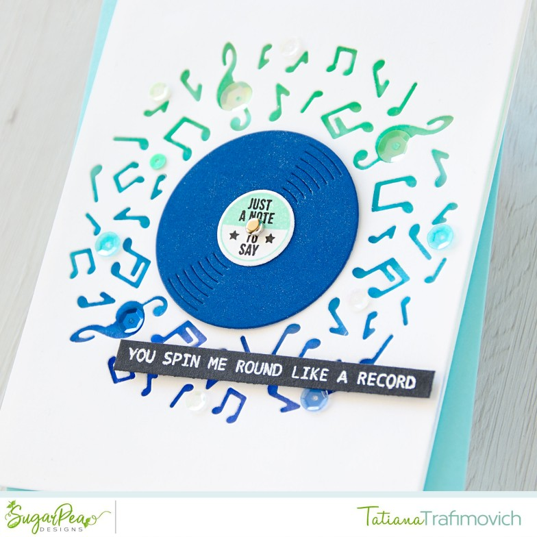 You Spin Me Round Like A Record #handmade card by Tatiana Trafimovich #tatianacraftandart - Greatest Hits stamp set by SugarPea Designs #sugarpeadesigns