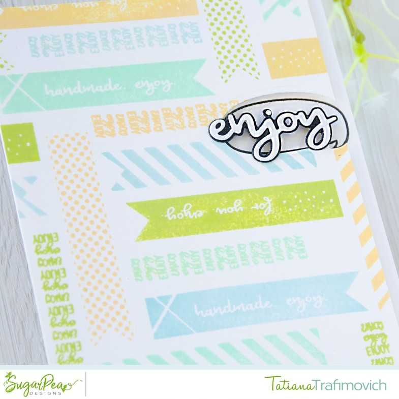 Enjoy #handmade card by Tatiana Trafimovich #tatianacraftandart - Keep Forever Tags stamp set by SugarPea Designs #sugarpeadesigns