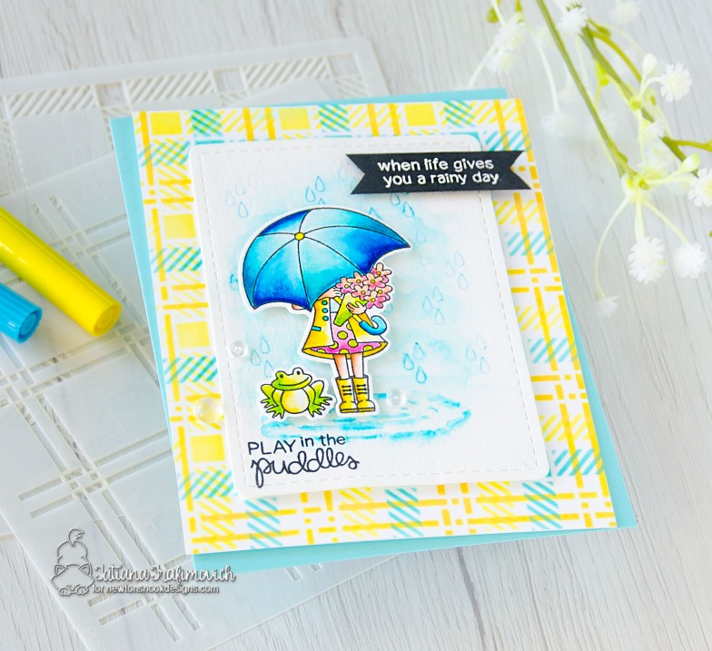 When Life Gives You A Rainy Day #handmade card by Tatiana Trafimovich #tatianacraftandart - Loads of Blooms stamp set by Newton's Nook Designs #newtonsnook