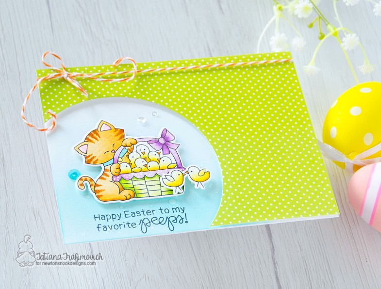 Happy Easter To My Favorite Peeps #handmade card by Tatiana Trafimovich #tatianacraftandart - Newton's Peeps stamp set by Newton's Nook Designs #newtonsnook