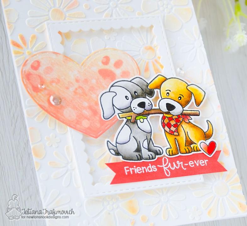 Friends Fur-ever #handmade card by Tatiana Trafimovich #tatianacraftandart - Puppy Pals stamp set by Newton's Nook Designs #newtonsnook