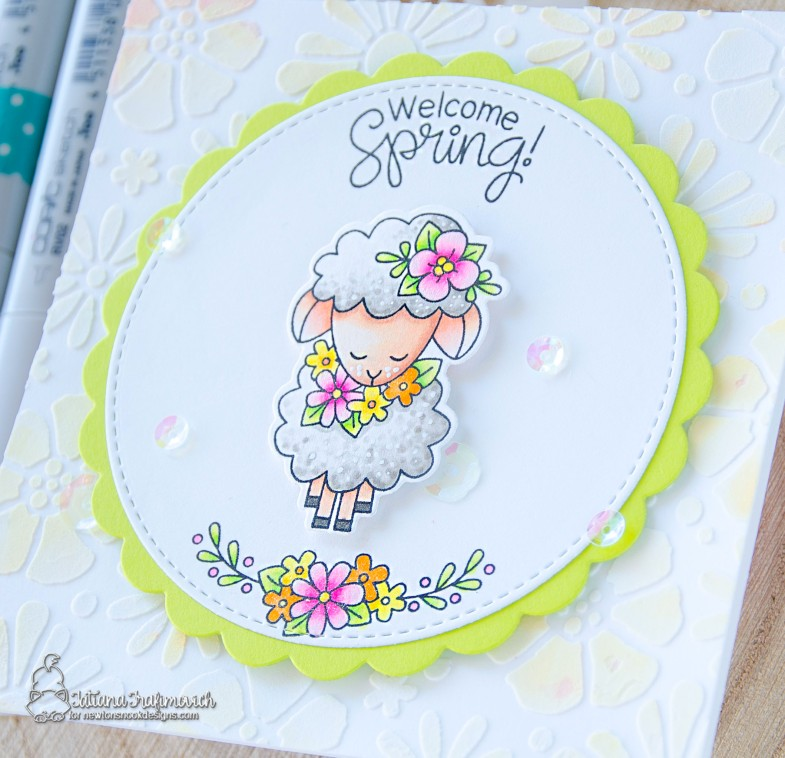 Welcome Spring #handmade card by Tatiana Trafimovich #tatianacraftandart - Woodland Spring stamp set by Newton's Nook Designs #newtonsnook