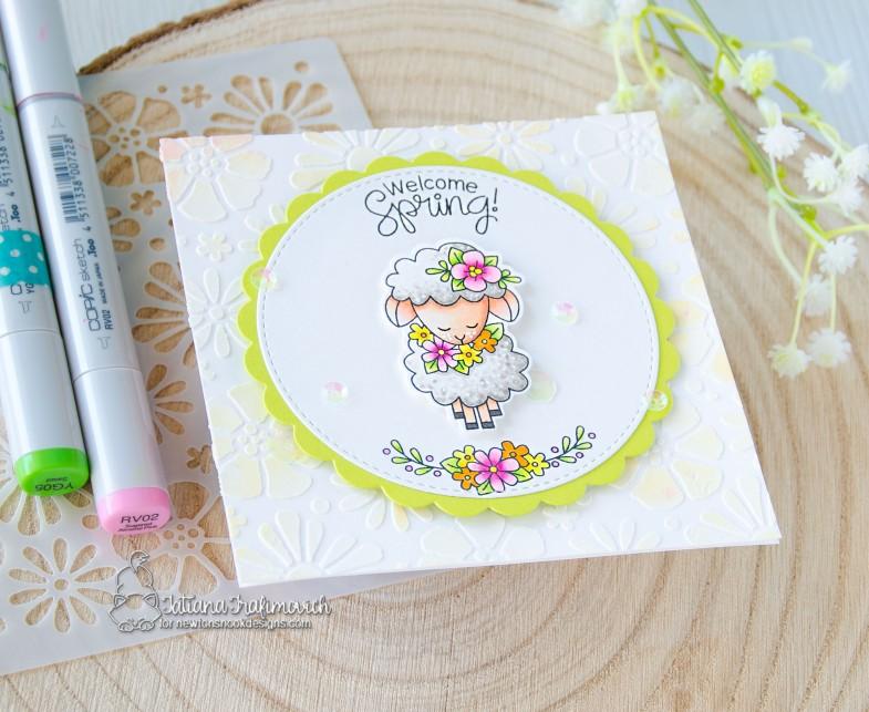 Welcome Spring #handmade card by Tatiana Trafimovich #tatianacraftandart - Woodland Spring stamp set by Newton's Nook Designs #newtonsnook