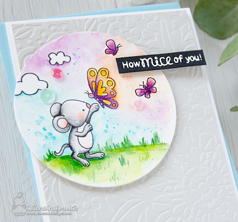 How Mice Of You! #handmade card by Tatiana Trafimovich #tatianacraftandart - Garden Mice stamp set by Newton's Nook Designs #newtonsnook