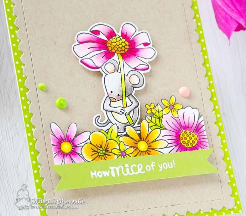 How Mice Of You! #handmade card by Tatiana Trafimovich #tatianacraftandart - Garden Mice stamp set by Newton's Nook Designs #newtonsnook