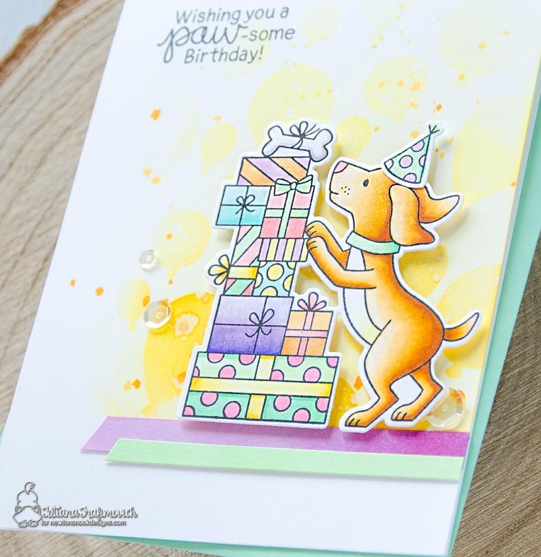 Paw-some Birthday #handmade card by Tatiana Trafimovich #tatianacraftandart - Paw-some Birthday Nook Designs #newtonsnook
