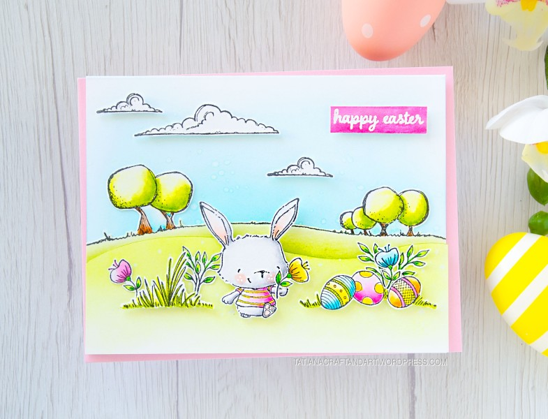 Happy Easter #handmade card by Tatiana Trafimovich #tatianacraftandart - stamps by Purple Onion Designs #purpleoniondesigns