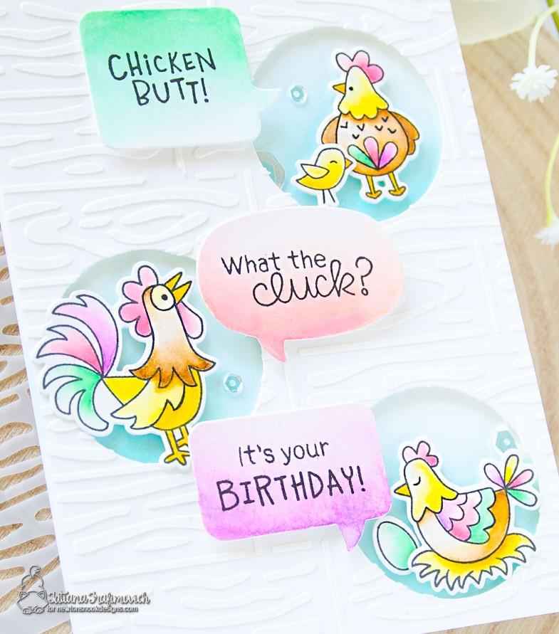It's Your Birthday! #handmade card by Tatiana Trafimovich #tatianacraftandart - Cluck stamp set by Newton's Nook Designs #newtonsnook