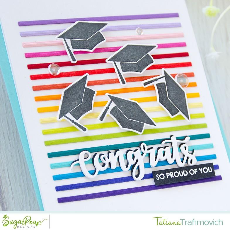 Congrats #handmade card by Tatiana Trafimovich #tatianacraftandart - For The Graduate stamp set by SugarPea Designs #sugarpeadesigns