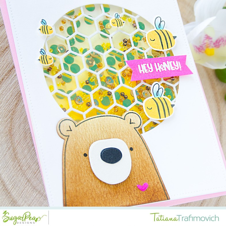 Hey Honey #handmade card by Tatiana Trafimovich #tatianacraftandart - Hey Honey stamp set by SugarPea Designs #sugarpeadesigns