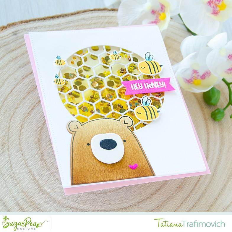 Hey Honey #handmade card by Tatiana Trafimovich #tatianacraftandart - Hey Honey stamp set by SugarPea Designs #sugarpeadesigns