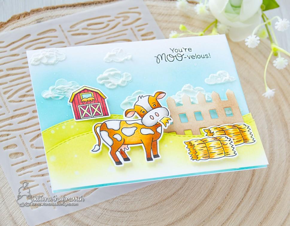 You're MOO-velous! #handmade card by Tatiana Trafimovich #tatianacraftandart - Moo stamp set by Newton's Nook Designs #newtonsnook