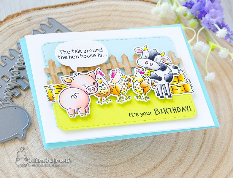It's Your Birthday! #handmade card by Tatiana Trafimovich #tatianacraftandart - stamps by Newton's Nook Designs #newtonsnook