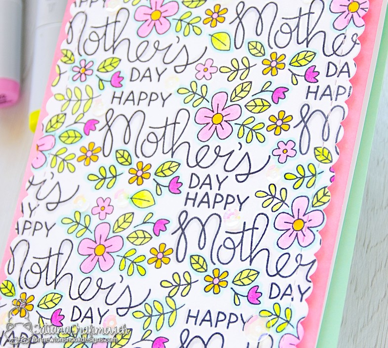 Happy Mother's Day #handmade card by Tatiana Trafimovich #tatianacraftandart - Mother's Day stamp set by Newton's Nook Designs #newtonsnook